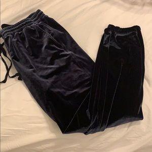 Pants - Gap navy velvet joggers size medium